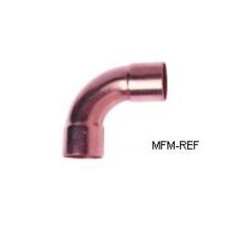80 mm curvar 90 ° bronze inw x inw para refrigeração