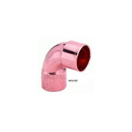 3/4 knie 90° koper inw x inw voor koeltechniek