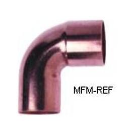 """1.5/8""""  rodilla 90° de cobre int-ext para la refrigeración"""