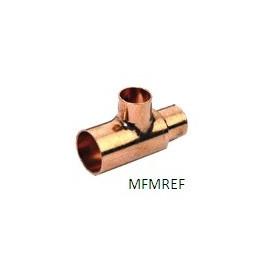 1.1/8 x 1/2 x 1.1/8 T-Stück Kupfer int-int-int  für die Kältetechnik