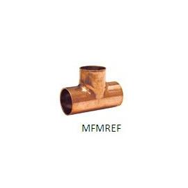 15 mm T-peça as pessoas para refrigeração de cobre
