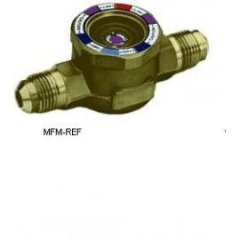 1/4MM  Spia di liquido con indicatore di umidità 1/4 ext flare