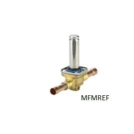 EVR 22 Danfoss 35 mm Solenoid valve normally closed without coil solder ODF connection 032F3267