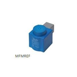Bobina 12W Danfoss para válvula de ímã EVR com plugues DIN e tampa de protecção IP67 018F6801