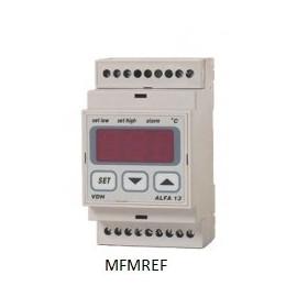 ALFA 13 VDH termostato alarme eletrônico 230V  -50°C / +150°C