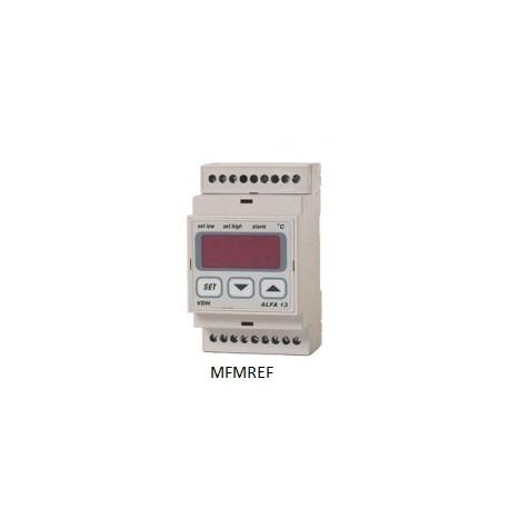ALFA 13DP VDH termostato alarme eletrônico 230V  -10°C / +40°C