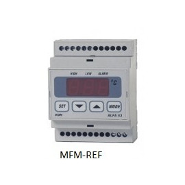 ALFA 53 VDH elektonische alarmthermostaat 230V -50°C / +50°C