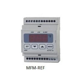 ALFANET 53 VDH termostato alarme eletrônico 230V -50°C / +50°C
