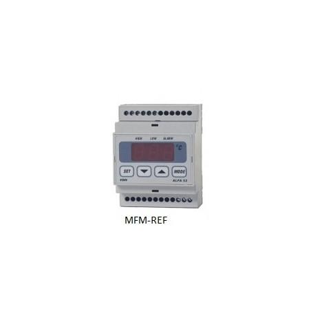 ALFANET 53 VDH thermostat électronique alarme 230V  -50°C / +50°C