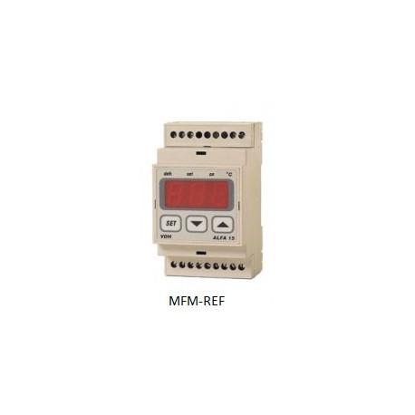ALFA 15 VDH defrost termostato eletrônico 230V -50°C / +50°C