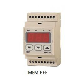ALFANET 15 VDH defrost termostato eletrônico 230V -50°C / +50°C