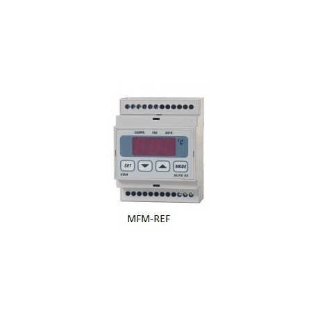 ALFA 55 RTDF VDH defrost termostato eletrônico 230V -50°C / +50°C