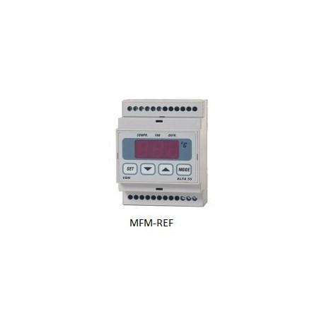 ALFANET 55 RTDF VDH defrost termostato eletrônico 230V -50°C / +50°C