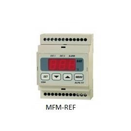 ALFA 57 VDH controle de pressão ferroviário 2 estágios eletrônico com sol neutra 230v -1 /99 bar