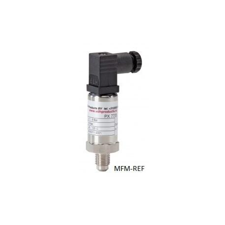 """PX 77/3HD. VDH HP capteur de pression. max 50 bar. 1/4"""" SAE- flare"""