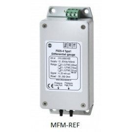 "PX 25-4 VDH Type 2 differential pressure sensor, Max pressure bar, 2 x 0.075 hose nozzle 1/8 """