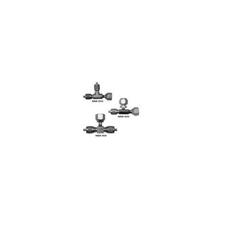 VAU-274 T válvula Schrader 5/16 SAE suporte giratório  x 5/16 SAE x 1/4 SAE