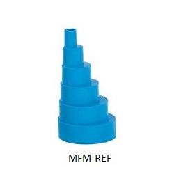 C01231 BlueDiamond Excentrisch verloop zacht 6/38mm blauw