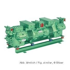 66HE-70Y Bitzer tandem compresor Octagon 400V-3-50Hz Part-winding.