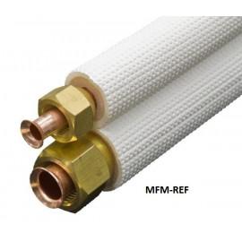 1/4'' x 1/2'' Aircotube FS2415 isolado tubo ar condicionado tubos de refrigerante conjunto 15 metros.