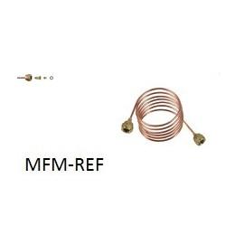 """TCK-1500  tube (2 x 1/4 """") 1500 mm Capillary fittings (copper-brass)"""
