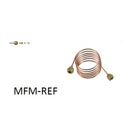 "TCK- 2000-V  tubo (2 x 1/4 "") raccordi di 2000 mm capillare (rame-ottone)"