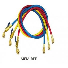Yellow Jacket  compteur Set de 3 tuyaux 1/4x0,9mx45°bv