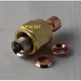 """3/8"""" conexão termo solda SAE. o aço inoxidável/CU + anel"""