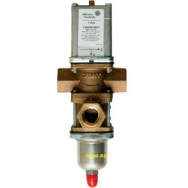 """V248GE1B001C Johnson Controls  water control valve 3-way 1.1/4"""" For city water."""