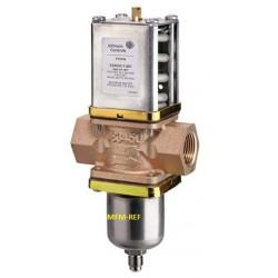 """V246HA1A001C Johnson Controls válvula de controle de água nos dois sentidos 3/8"""" Para água do mar"""