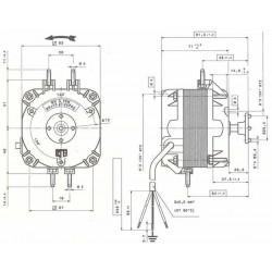 VNT16 Elco moteur de ventilateur 16 Watt  Universal