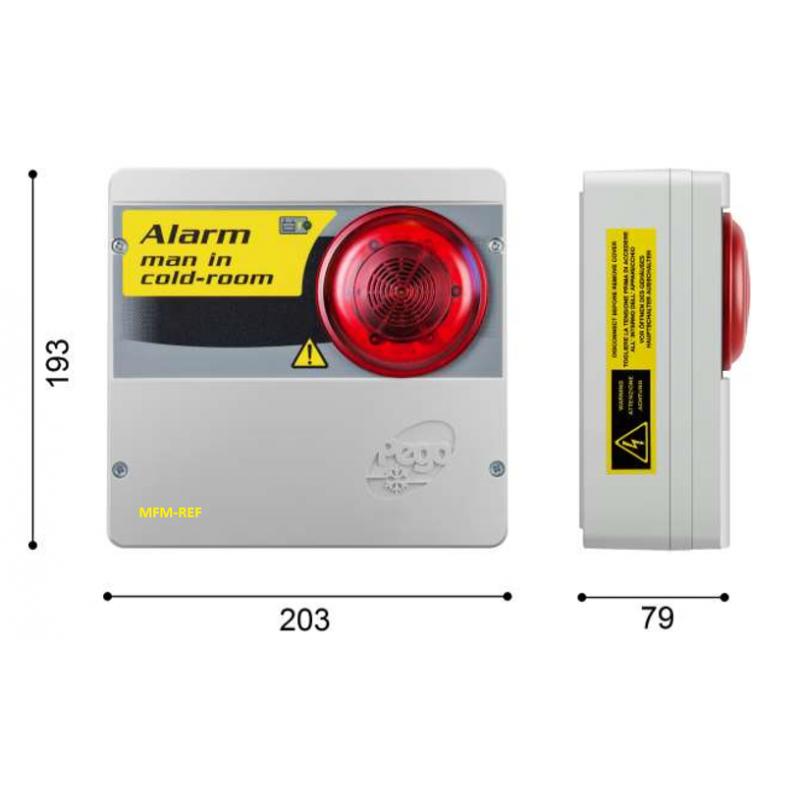 Pego ECP APE 03 sicurezza personale in freezer allarme di sicurezza in camera