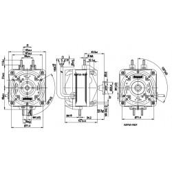 M4Q-045-CF01-75 EBM ventilatore 16 watt 230-1-50