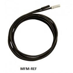 Eliwell TCJ vetrotex (staal) temperatuur sensor 6x100mm IP44/ draad 3,0m (fiberglass, grijs)