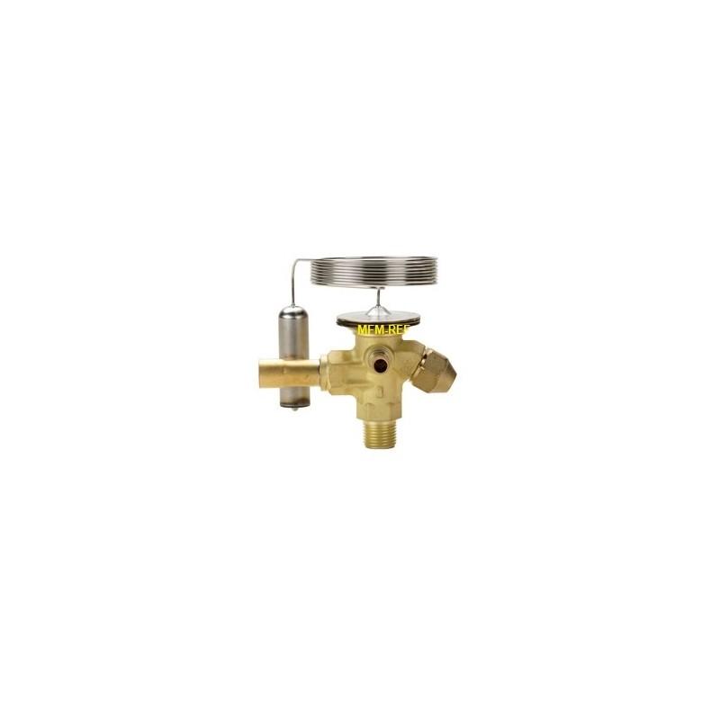 TE 2 Danfoss R404A-R507 3/8x1/2 válvula de expansão termostática passagem permutáveis alargamento x solda
