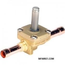 EVR 20 Danfoss normalmente chiuso. senza bobina. con controllo manuale. flangia di collegamento. 032F1253