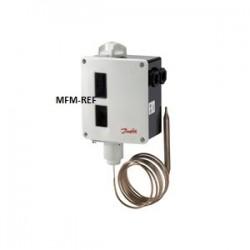 RT12 Danfoss differenziale del termostato riempimento assorbimento -5°C / +10°C. 017-508966