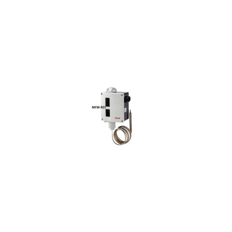 RT8L Danfoss termostato diferencial com zona neutra ajustável -25°C / +15°C. 017L003066