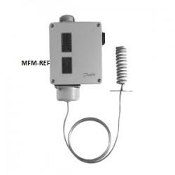 RT140L Danfoss termostato diferencial com zona neutra ajustável -50°C / -70°C. 017L003166
