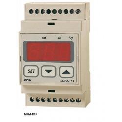 ALFA11 DP VDH termostato eletrônico 230V -10°C / +40°C