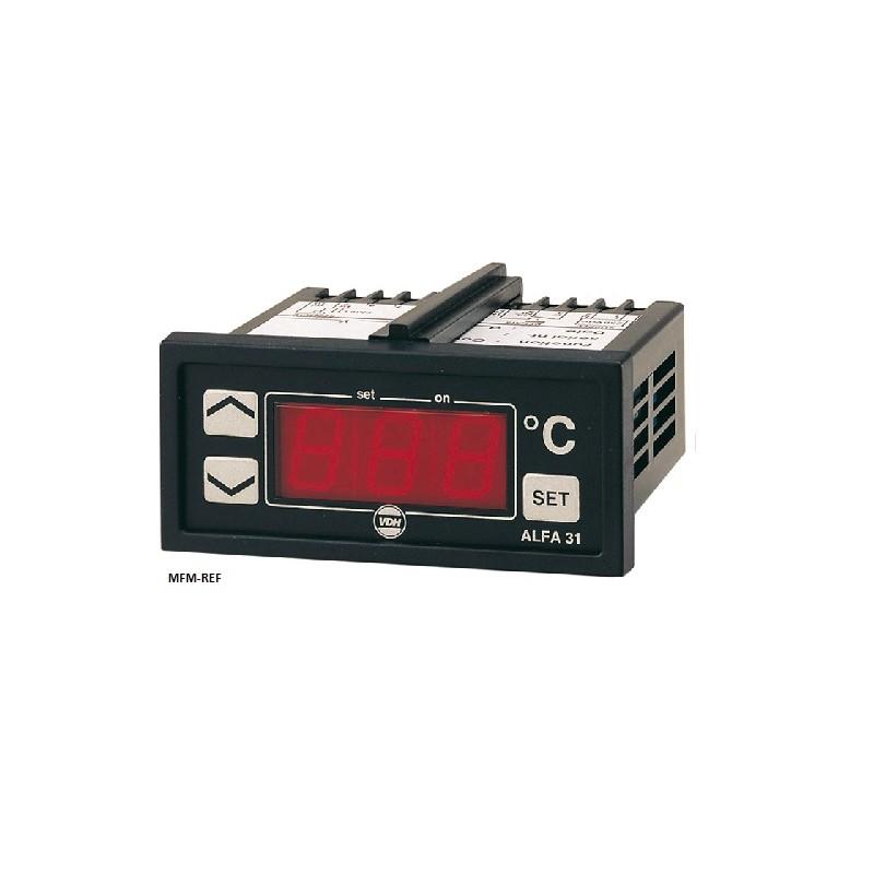 ALFANET 33 VDH thermostat électronique alarme 12V  -50°C / +50°C