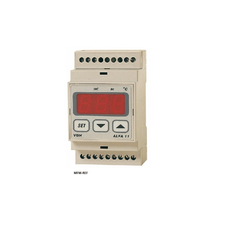 ALFANET 11 VDH elektronische thermostaat Din-rail 230V -50°/+50°C
