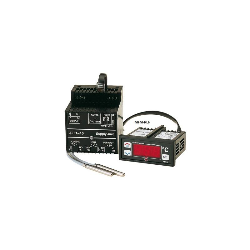 ALFANET 95 VDH degele o termostato 230Vac com módulo de relé