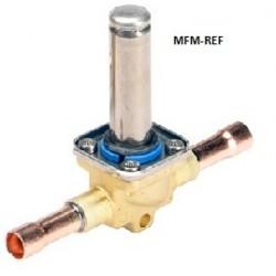EVR 6 Danfoss 3/8 válvula de solenoide normalmente cerrada sin conexión bobina soldadura connexion ODF 032L1212