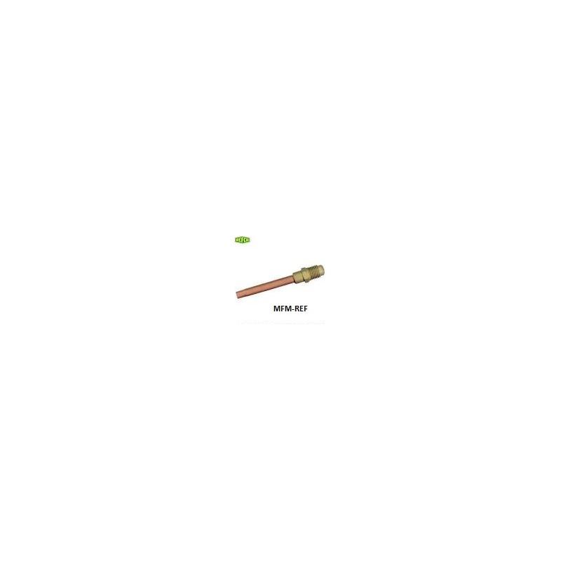 """MV-8404 Refco Válvula de Schrader 1/4"""" ODF x 1/4"""" SAE  schräder x  tubo de cobre"""