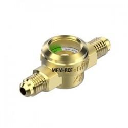 """SGP 10 N Danfoss kijkglas met vochtindicator flare-aansluiting 3/8"""" 014L0172"""