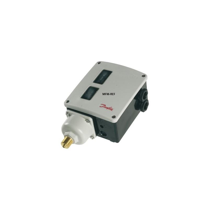 """RT5AL Danfoss Interruptor de pressão com zona neutra ajustável 3/8""""G + 6.5-10mm. 017L004066"""