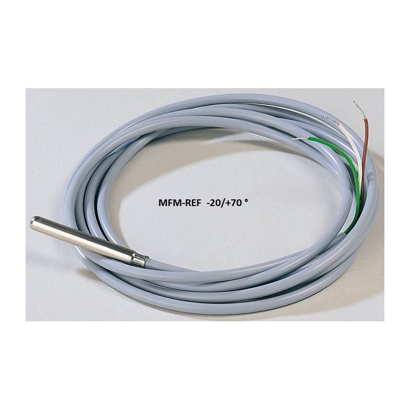 VDH SM 811/ 2m temperatuur sensor Standaard PTC / 2,0 m snoer PVC grijs, 2 x 0,25 mm2, RVS voelerhuls 6 x 50 mm