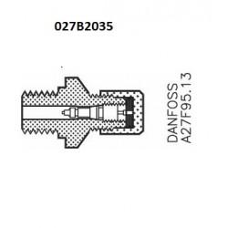Danfoss Connection indicateur de pression ø 6,5 / ø 10mm  las / soudure. 027B2035