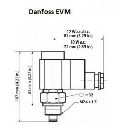 EVM Danfoss Valve pilote (NC) 12 bar sans bobine 10W. 027B1120